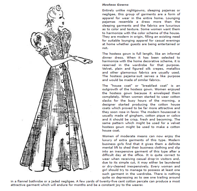 Harriet Pepin on the Hostess gown
